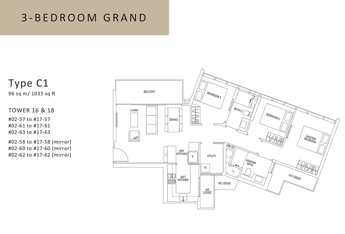 3 bed grand