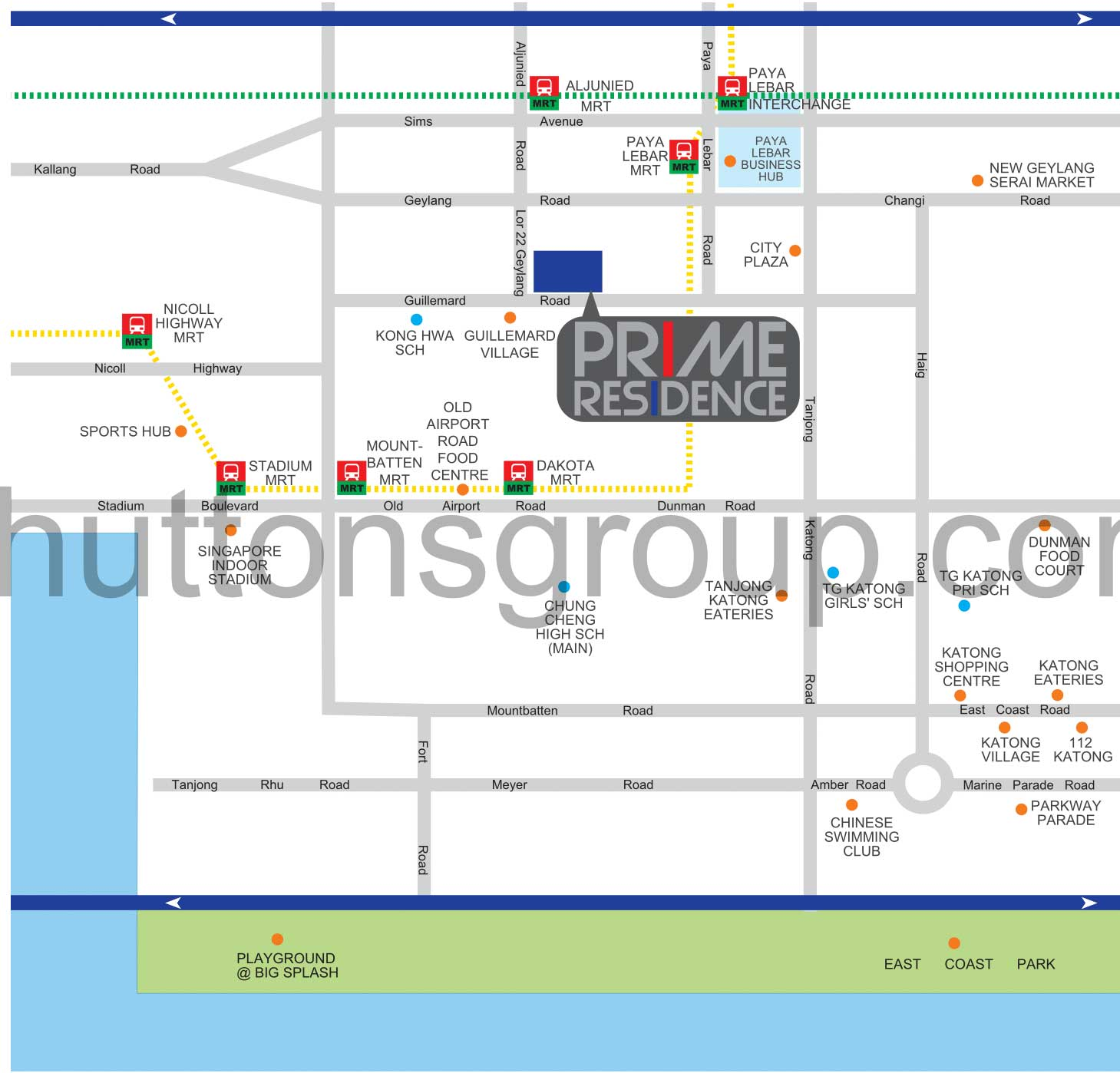 Prime Residences Location Map