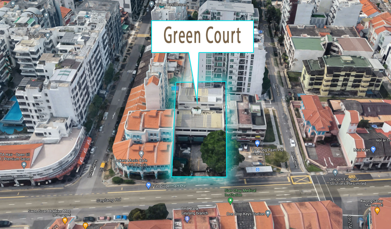 Green Courts Location Map